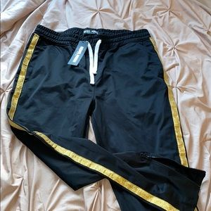 Gold detail track pant